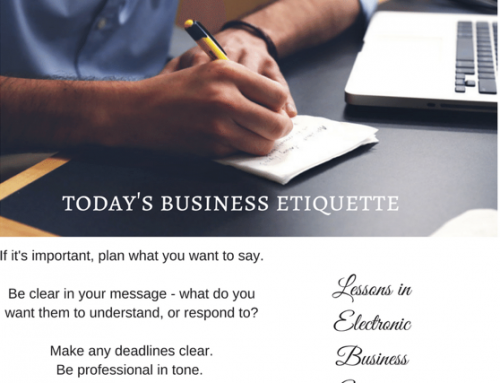 Business Etiquette In An Electronic World